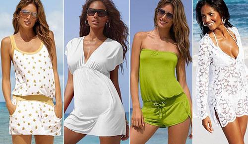 С чем носить пляжную тунику?